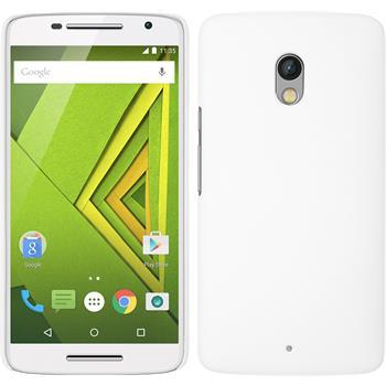 Hardcase for Motorola Moto X Play rubberized white