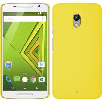 Hardcase for Motorola Moto X Play rubberized yellow