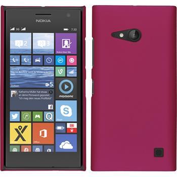 Hardcase for Nokia Lumia 730 rubberized hot pink
