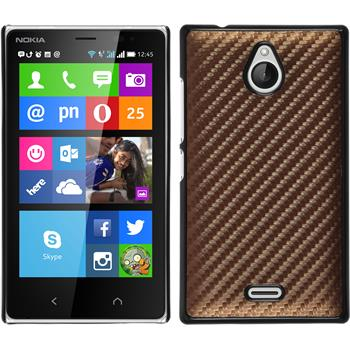 Hardcase for Nokia X2 carbon optics bronze