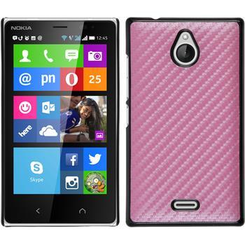Hardcase for Nokia X2 carbon optics hot pink
