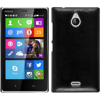 Hardcase for Nokia X2 leather optics black