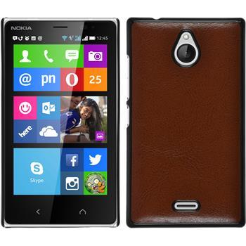 Hardcase for Nokia X2 leather optics brown