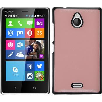 Hardcase for Nokia X2 leather optics pink
