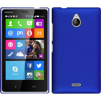 Hardcase for Nokia X2 rubberized blue
