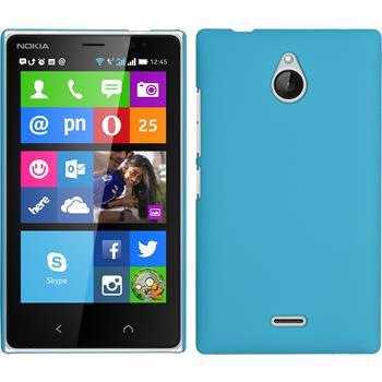 Hardcase for Nokia X2 rubberized light blue
