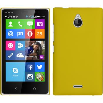 Hardcase for Nokia X2 rubberized yellow