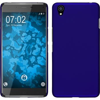 Hardcase for OnePlus OnePlus X rubberized blue