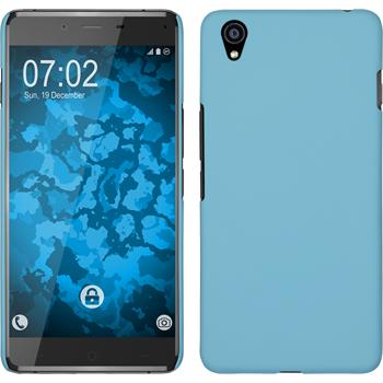 Hardcase for OnePlus OnePlus X rubberized light blue