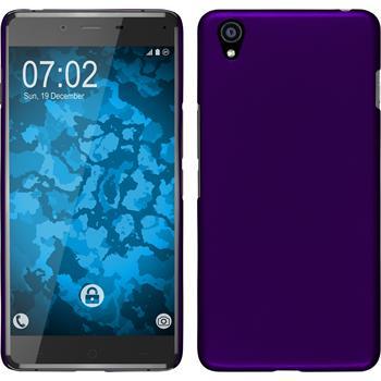 Hardcase for OnePlus OnePlus X rubberized purple