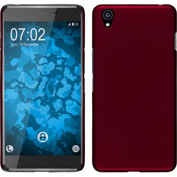 Hardcase for OnePlus OnePlus X rubberized red