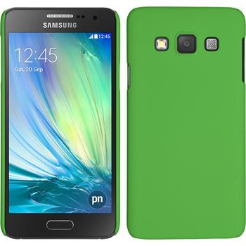 Hardcase for Samsung Galaxy A3 rubberized green