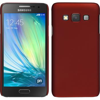 Hardcase for Samsung Galaxy A3 rubberized red