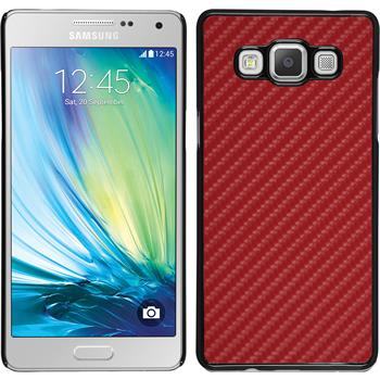 Hardcase for Samsung Galaxy A5 carbon optics red