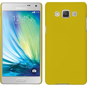 Hardcase for Samsung Galaxy A5 rubberized yellow
