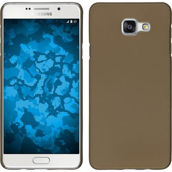 Hardcase for Samsung Galaxy A7 (2016) rubberized gold