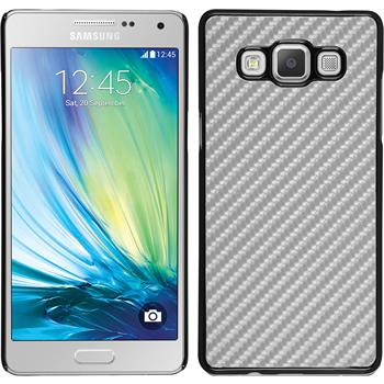Hardcase for Samsung Galaxy A7 carbon optics silver
