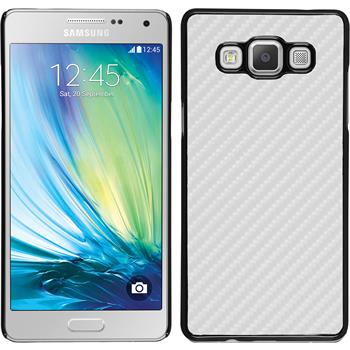 Hardcase for Samsung Galaxy A7 carbon optics white
