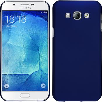 Hardcase for Samsung Galaxy A8 rubberized blue