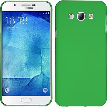 Hardcase for Samsung Galaxy A8 rubberized green