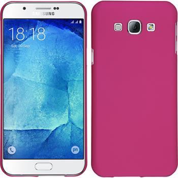 Hardcase for Samsung Galaxy A8 rubberized hot pink
