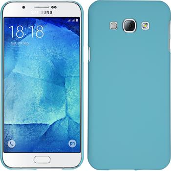Hardcase for Samsung Galaxy A8 rubberized light blue