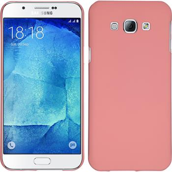 Hardcase for Samsung Galaxy A8 rubberized pink