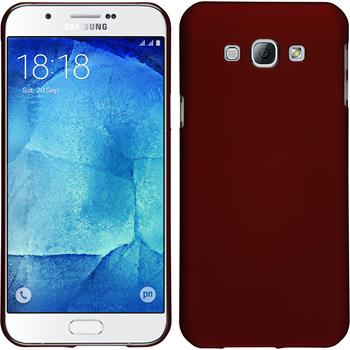 Hardcase for Samsung Galaxy A8 rubberized red