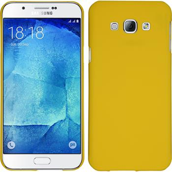 Hardcase for Samsung Galaxy A8 rubberized yellow