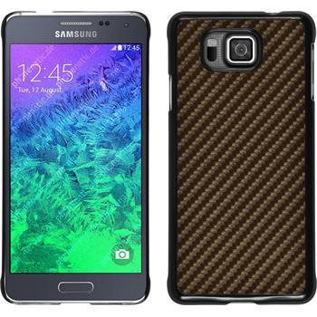 Hardcase for Samsung Galaxy Alpha carbon optics bronze