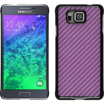Hardcase for Samsung Galaxy Alpha carbon optics hot pink