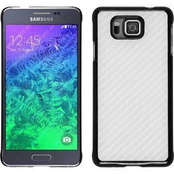 Hardcase for Samsung Galaxy Alpha carbon optics white