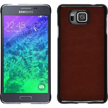 Hardcase for Samsung Galaxy Alpha leather optics brown