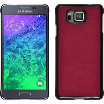 Hardcase for Samsung Galaxy Alpha leather optics hot pink