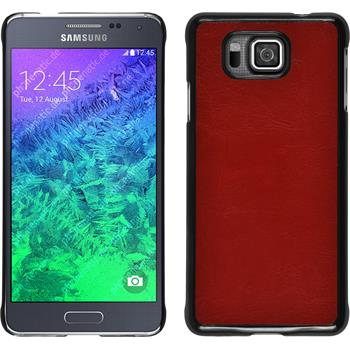 Hardcase for Samsung Galaxy Alpha leather optics red