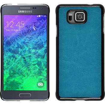 Hardcase for Samsung Galaxy Alpha leather optics turquoise