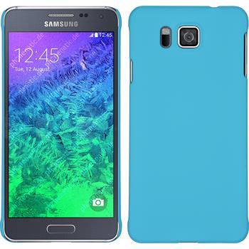 Hardcase for Samsung Galaxy Alpha rubberized light blue