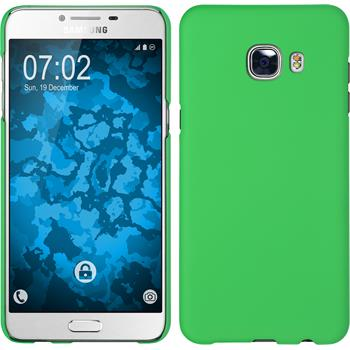 Hardcase for Samsung Galaxy C5 rubberized green