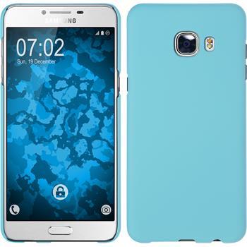 Hardcase for Samsung Galaxy C5 rubberized light blue