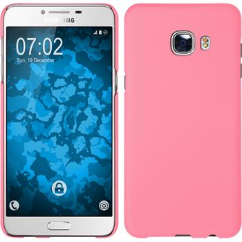 Hardcase for Samsung Galaxy C5 rubberized pink