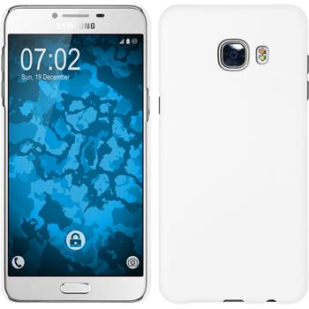 Hardcase for Samsung Galaxy C5 rubberized white