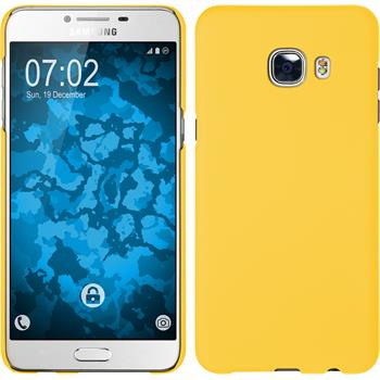 Hardcase for Samsung Galaxy C5 rubberized yellow