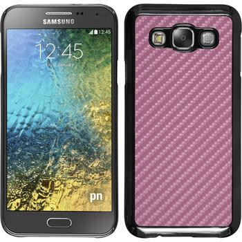 Hardcase for Samsung Galaxy E5 carbon optics hot pink