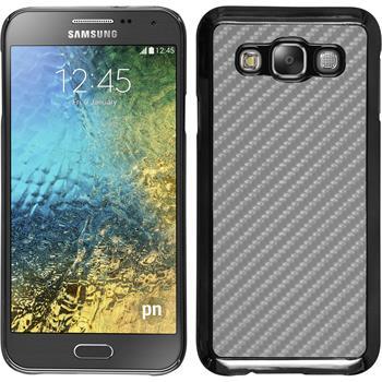 Hardcase for Samsung Galaxy E5 carbon optics silver
