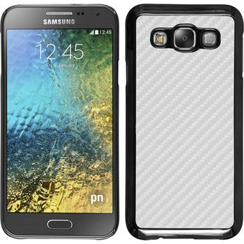 Hardcase for Samsung Galaxy E5 carbon optics white