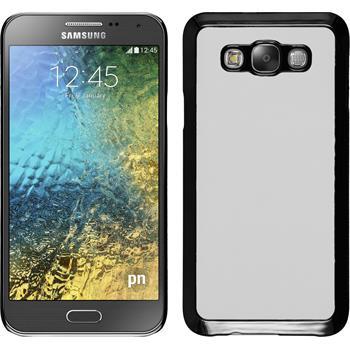 Hardcase for Samsung Galaxy E7 leather optics white