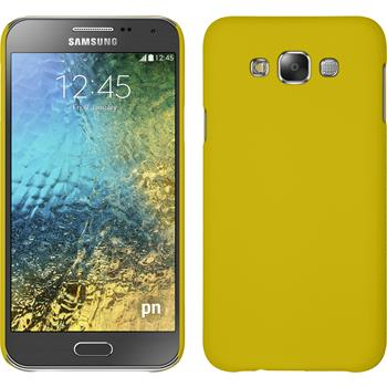 Hardcase for Samsung Galaxy E7 rubberized yellow