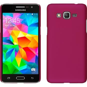 Hardcase for Samsung Galaxy Grand Prime rubberized hot pink