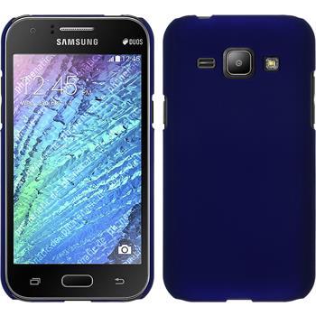 Hardcase for Samsung Galaxy J1 rubberized blue