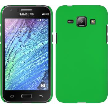 Hardcase for Samsung Galaxy J1 rubberized green